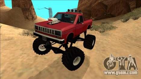 Bobcat Monster Truck for GTA San Andreas back left view