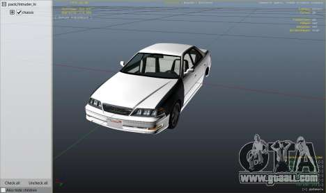 GTA 5 Toyota Mark II JZX100 Tunable right side view