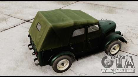 GAZ-69A for GTA San Andreas back left view