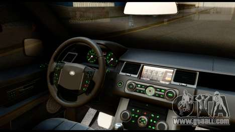 Range Rover Sport 2012 for GTA San Andreas inner view