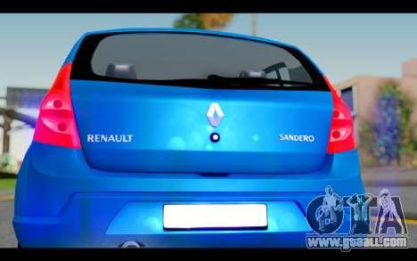 Renault Sandero for GTA San Andreas inner view