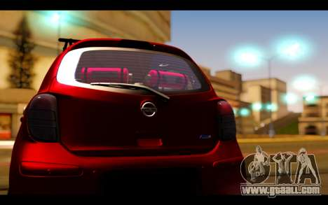 Nissan March 2011 Hellaflush for GTA San Andreas inner view