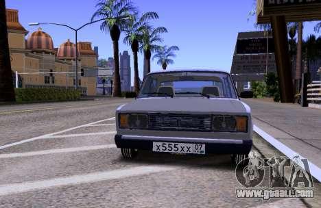 VAZ 2105 KBR for GTA San Andreas inner view