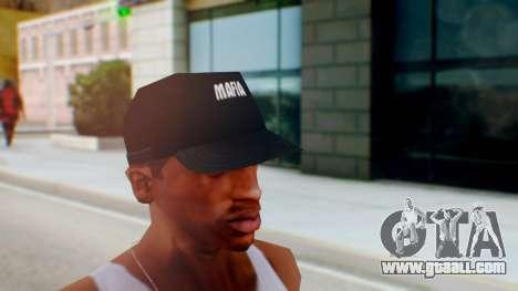 Mafia Cap Black White for GTA San Andreas second screenshot