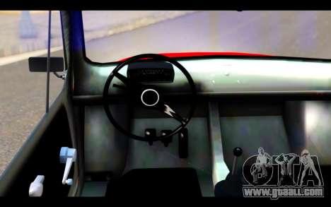 Zastava 750 - The Cars Movie for GTA San Andreas back left view