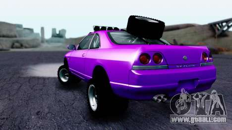 Nissan Skyline R33 Rusty Rebel for GTA San Andreas left view