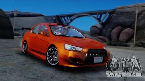 Mitsubishi Lancer Evolution X Tunable New PJ for GTA San Andreas right view