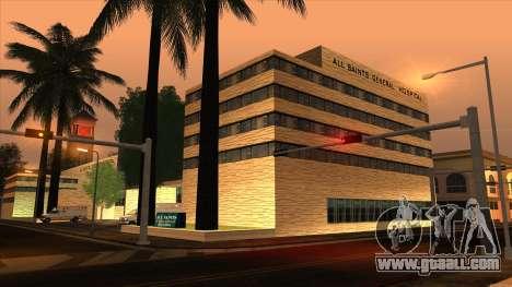 LSPD, All Saints Hospital & Skyscrapers 2016 for GTA San Andreas second screenshot