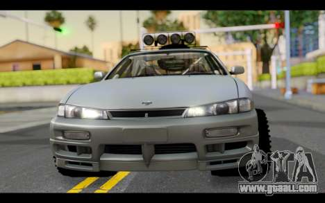 Nissan Silvia S14 Rusty Rebel for GTA San Andreas back view