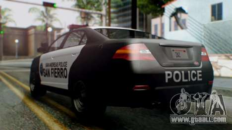 GTA 5 Police SF for GTA San Andreas left view