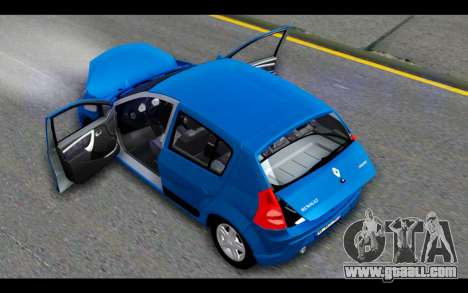 Renault Sandero for GTA San Andreas upper view