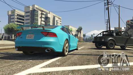 GTA 5 Audi RS7 rear right side view