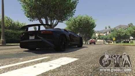 GTA 5 2016 Lamborghini Aventador LP750-4 Superveloce back view