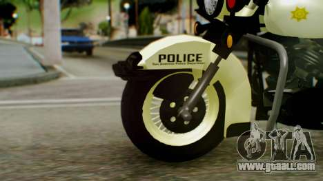 New Police Bike for GTA San Andreas back left view