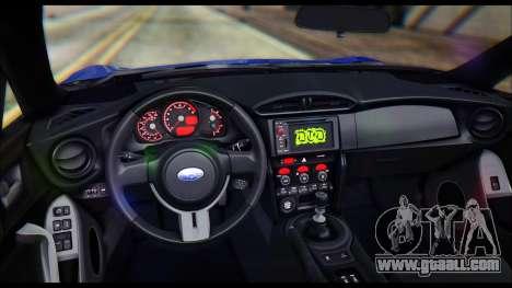 Subaru BRZ STi Concept 2016 for GTA San Andreas inner view