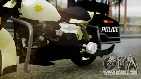 New Police Bike for GTA San Andreas right view