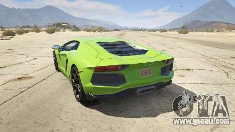 GTA 5 Lamborghini Aventador LP700-4 v.2.2 rear left side view