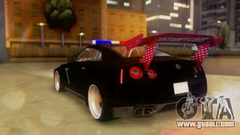 Nissan GT-R Police Rocket Bunny for GTA San Andreas left view