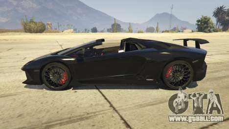 GTA 5 2016 Lamborghini Aventador LP750-4 Superveloce left side view