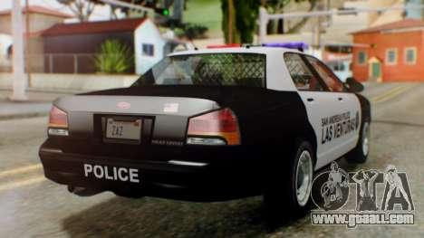 GTA 5 Police LV for GTA San Andreas left view