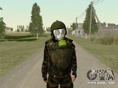 Russian soldiers in gas mask for GTA San Andreas