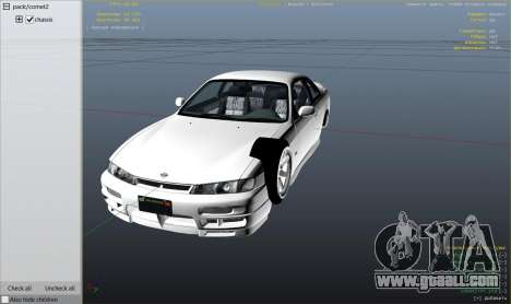 GTA 5 Nissan 200sx S14 Kouki right side view
