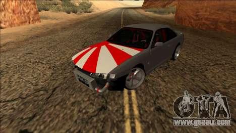 Nissan Silvia S14 Drift JDM for GTA San Andreas back view