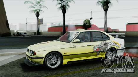 BMW M5 E34 US-spec 1994 (Full Tunable) for GTA San Andreas bottom view