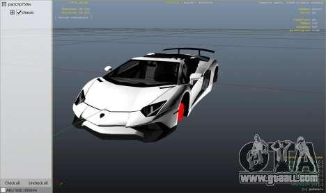 2016 Lamborghini Aventador LP750-4 Superveloce for GTA 5