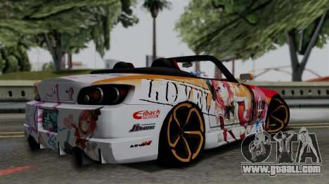 Honda S2000 Nishikino Maki Love Live Itasha for GTA San Andreas left view