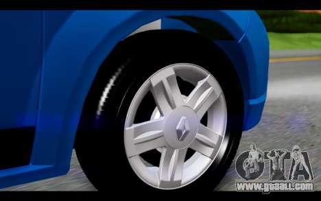 Renault Sandero for GTA San Andreas back left view