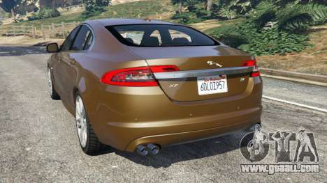 GTA 5 Jaguar XFR 2010 rear left side view