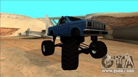 Bobcat Monster Truck for GTA San Andreas back view