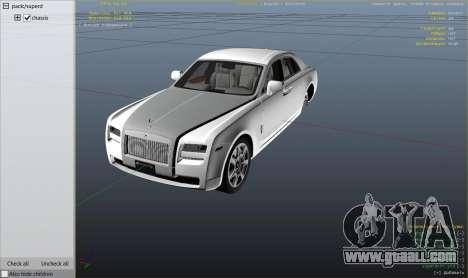 GTA 5 Rolls Royce Ghost 2014 right side view
