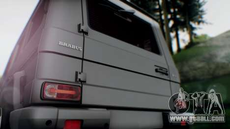 Brabus B55 for GTA San Andreas back view