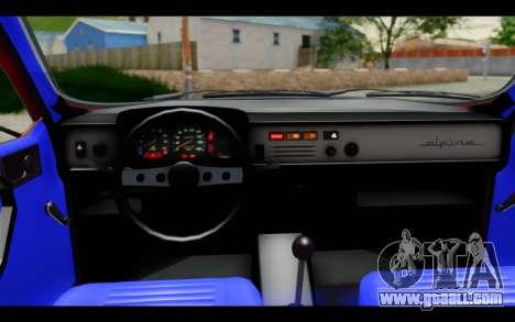 Renault 12 Toros for GTA San Andreas inner view