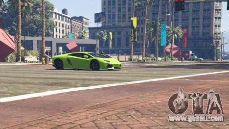 GTA 5 Lamborghini Aventador LP700-4 v.2.2 steering wheel