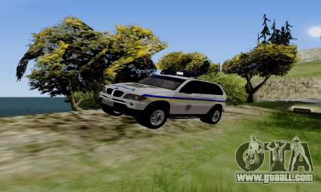 BMW X5 Ukranian Police for GTA San Andreas left view