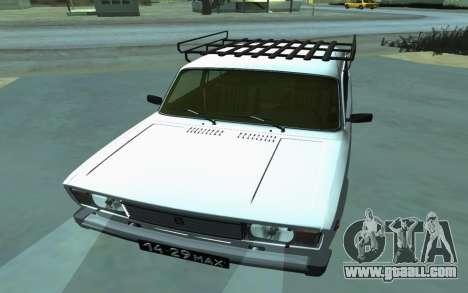 VAZ 2105 for GTA San Andreas for GTA San Andreas back view