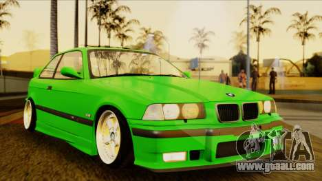 BMW M3 E36 [34RS671] for GTA San Andreas right view