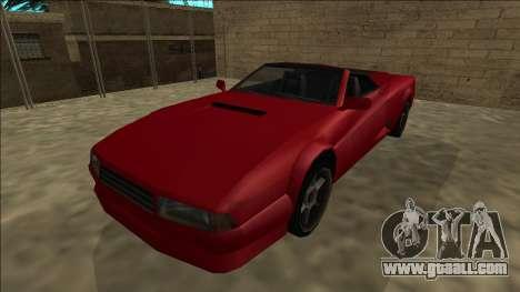Cheetah Cabrio for GTA San Andreas right view