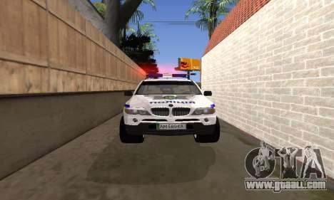 BMW X5 Ukranian Police for GTA San Andreas side view