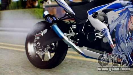 Yamaha YZF R-25 Kos-Mos Xenosaga Itasha 2014 for GTA San Andreas right view
