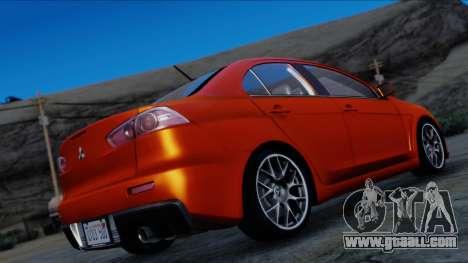 Mitsubishi Lancer Evolution X Tunable New PJ for GTA San Andreas left view