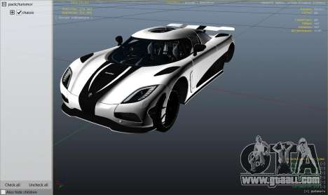 GTA 5 2014 Koenigsegg Agera R v1.0 right side view