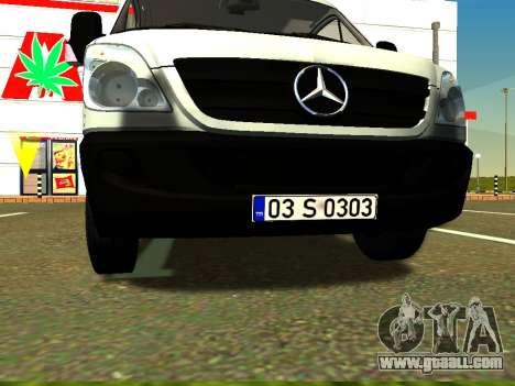 Mercedes-Benz Sprinter Long for GTA San Andreas inner view