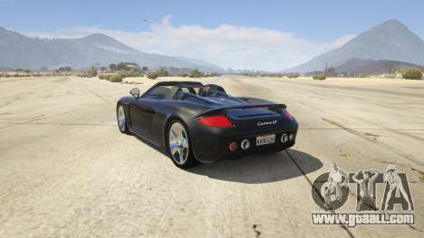 GTA 5 Porsche Carrera GT 2.0 rear left side view