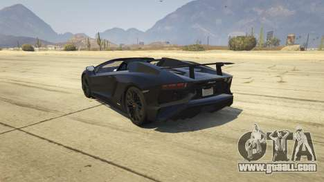GTA 5 2016 Lamborghini Aventador LP750-4 Superveloce rear left side view