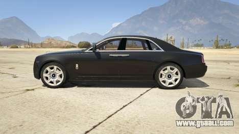 GTA 5 Rolls Royce Ghost 2014 left side view