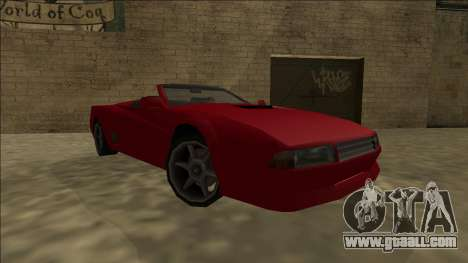 Cheetah Cabrio for GTA San Andreas back left view